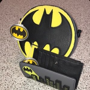 Batman Loungefly purse and wallet Set NWT